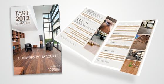 Design graphique et impression - edition de borchure tarifaire