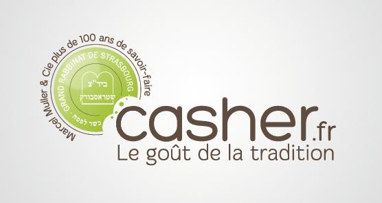 Design graphique et impression - conception du logo Casher.fr