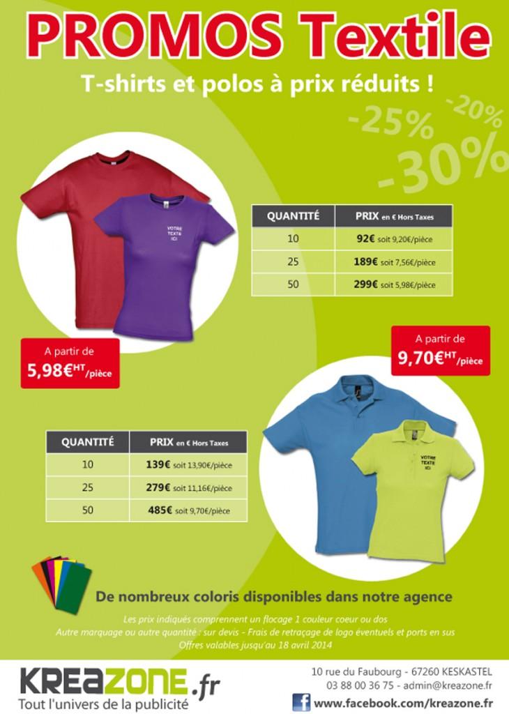 promo t-shirts et polos